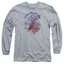 Nightmare On Elm Street Long Sleeve Shirt Springwood High Victim Heather Grey Tee T-Shirt
