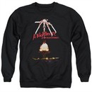 Nightmare On Elm Street Sweatshirt Alternate Poster Adult Black Sweat Shirt