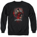 Nightmare On Elm Street Sweatshirt Springwood Slasher Adult Black Sweat Shirt