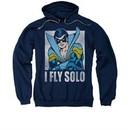 Nightwing DC Comics Hoodie Sweatshirt Fly Solo Navy Blue Adult Hoody Sweat Shirt