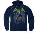 Nightwing DC Comics Hoodie Sweatshirt Nightwing Navy Blue Adult Hoody Sweat Shirt