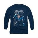 Nightwing DC Comics Shirt A Legacy Long Sleeve Navy Blue Tee T-Shirt
