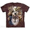 Northern Animals Shirt Tie Dye Adult T-Shirt Tee