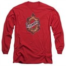 Oldsmobile Long Sleeve Shirt Detroit Emblem Red Tee T-Shirt