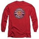 Oldsmobile Long Sleeve Shirt Vintage Service Red Tee T-Shirt
