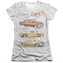 Oldsmobile Shirt Rocket Line Cars Poly/Cotton Sublimation Juniors T-Shirt Front/Back Print