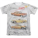 Oldsmobile Shirt Rocket Line Cars Poly/Cotton Sublimation T-Shirt Front/Back Print