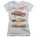 Oldsmobile Shirt Rocket Line Cars Sublimation Juniors T-Shirt Front/Back Print
