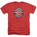 Oldsmobile Shirt Vintage Service Heather Red T-Shirt