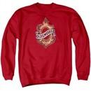 Oldsmobile Sweatshirt Detroit Emblem  Adult Red Sweat Shirt