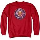 Oldsmobile Sweatshirt Vintage Service Adult Red Sweat Shirt