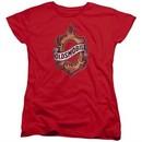 Oldsmobile Womens Shirt Detroit Emblem Red T-Shirt