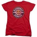 Oldsmobile Womens Shirt Vintage Service Red T-Shirt