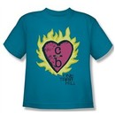 One Tree Hill Shirt Kids C Over B Turquoise Youth Tee T-Shirt
