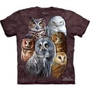 Owls Shirt Tie Dye Birds Collage T-shirt Adult Tee