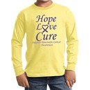 Pancreatic Cancer Hope Love Cure Kids Long Sleeve