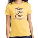 Pancreatic Cancer Hope Love Cure Ladies T-shirt