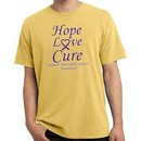 Pancreatic Cancer Tee Hope Love Cure Pigment Dyed Shirt