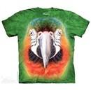 Parrot Face Shirt Tie Dye Adult T-Shirt Tee
