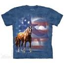 Patriotic Wild Animals Shirt Tie Dye Adult T-Shirt Tee