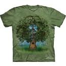 Peace Sign Shirt Tie Dye T-shirt Guitar Tree Adult Tee