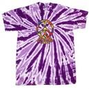 Peace Tie Dye T-shirt Funky Peace Purple Twist Tie Dye