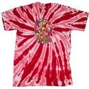 Peace Tie Dye T-shirt Funky Peace Red Twist Tie Dye