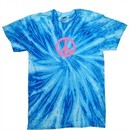 Peace Tie Dye T-shirt Pink Peace Blueberry Twist Tie Dye Tee
