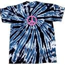 Peace Tie Dye T-shirt Pink Peace Navy Twist Tie Dye Tee