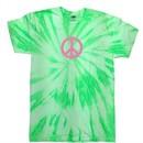 Peace Tie Dye T-shirt Pink Peace Neon Kiwi Twist Tie Dye Tee