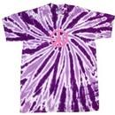 Peace Tie Dye T-shirt Pink Peace Purple Twist Tie Dye Tee