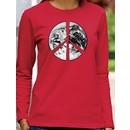 PEACE EARTH Sign Symbol Ladies Long Sleeve T-shirt