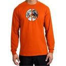 Peace Shirt Peace Earth Satellite Image Long Sleeve Shirt Orange