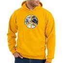 Peace Sign Hoodie Sweatshirt Earth Satellite Image Symbol Gold Hoody