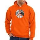 Peace Sign Hoodie Sweatshirt Earth Satellite Image Symbol Orange Hoody