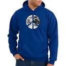 Peace Sign Hoodie Sweatshirt Earth Satellite Image Symbol Royal Hoody