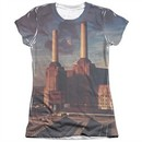 Pink Floyd Shirt Animals Poly/Cotton Sublimation Juniors T-Shirt Front/Back Print