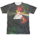 Pink Floyd Shirt Dark Side Of The Moon Poly/Cotton Sublimation T-Shirt Front/Back Print