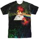 Pink Floyd Shirt Dark Side Of The Moon Sublimation T-Shirt Front/Back Print