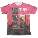 Pink Floyd Shirt Live Poly/Cotton Sublimation T-Shirt Front/Back Print