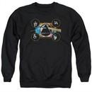 Pink Floyd Sweatshirt Dark Side Heads Adult Black Sweat Shirt