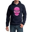 Pink Sugar Skull Hoodie