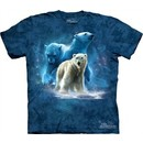 Polar Bear Shirt Tie Dye Arctic Collage T-shirt Adult Tee
