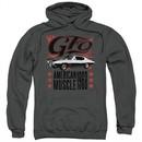 Pontiac Hoodie 68 GTO Charcoal Sweatshirt Hoody