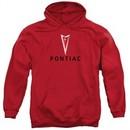Pontiac Hoodie Modern Logo Red Sweatshirt Hoody