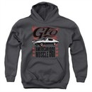 Pontiac Kids Hoodie 68 GTO Charcoal Youth Hoody