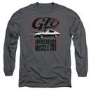 Pontiac Long Sleeve Shirt 68 GTO Charcoal Tee T-Shirt
