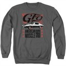 Pontiac Sweatshirt 68 GTO Adult Charcoal Sweat Shirt