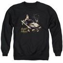 Pontiac Sweatshirt 77 Firebird Adult Black Sweat Shirt