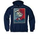 Popeye Hoodie Sweatshirt Strong Navy Adult Hoody Sweat Shirt
